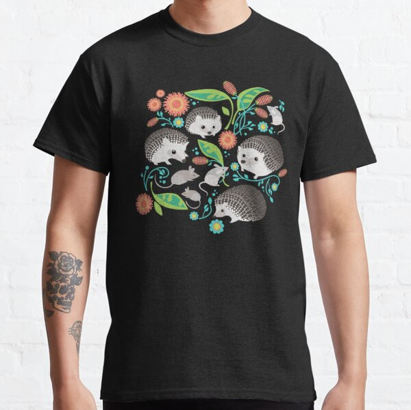 Hedgehog and Mice Friends Classic T-Shirt
