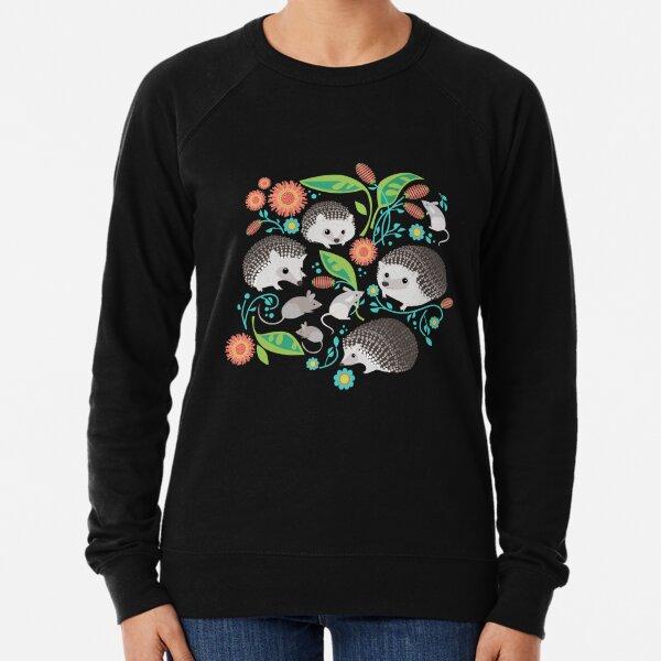 Hedgehog and Mice Friends Lightweight Sweatshirt
