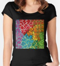 Flower Power Zentangle 278 Women's Fitted Scoop T-Shirt