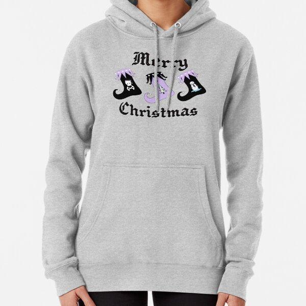 Merry Christmas Pastel Goth Elf Stockings Pullover Hoodie