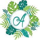 Monogramm-Buchstabe A | Personalisiert | Tropisches Design von PraiseQuotes