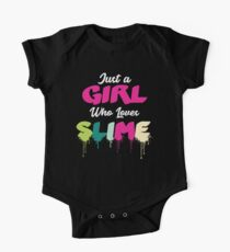 Funny Just A Girl Who Loves Slime Gift Design One Piece - Short Sleeve