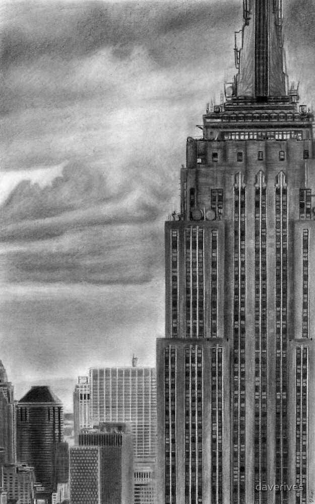 Quot Empire State Building New York Pencil Drawing Quot By