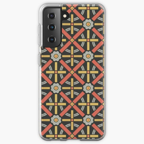 Bold geometric retro pattern designed by Christopher Dresser – State Library Victoria Samsung Galaxy Soft Case