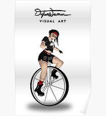 Evil Unicycle Girl Poster