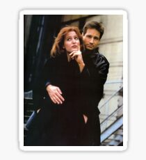mulder and scully - the x-files promo shot Sticker