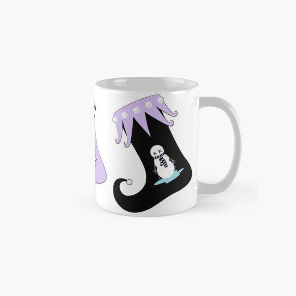 Merry Christmas Pastel Goth Elf Stockings Classic Mug
