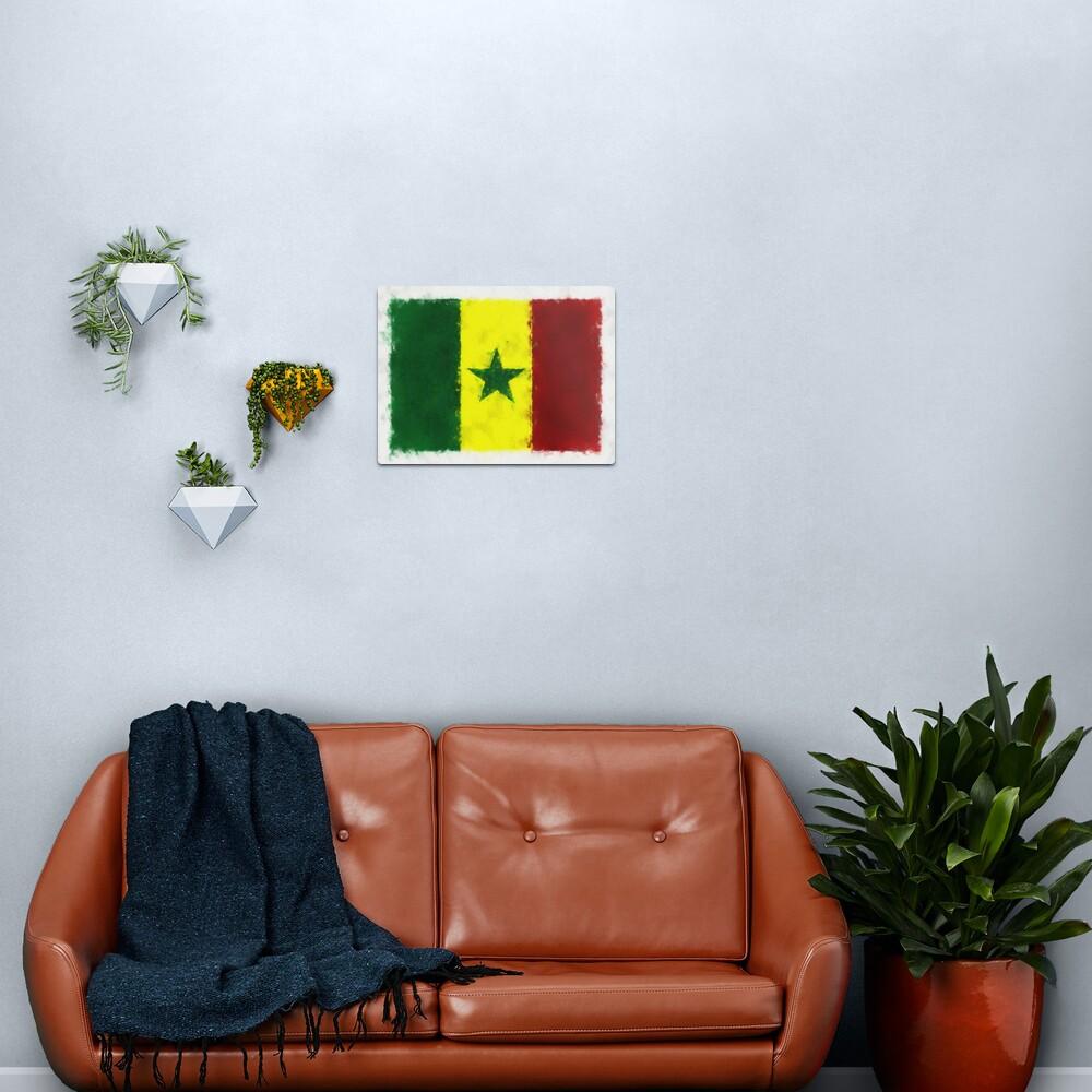 Senegal Flag Reworked No. 66, Series 5 Metal Print