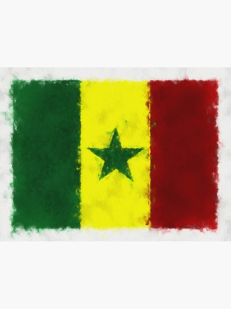 Senegal Flag Reworked No. 66, Series 5 by 8th-and-f