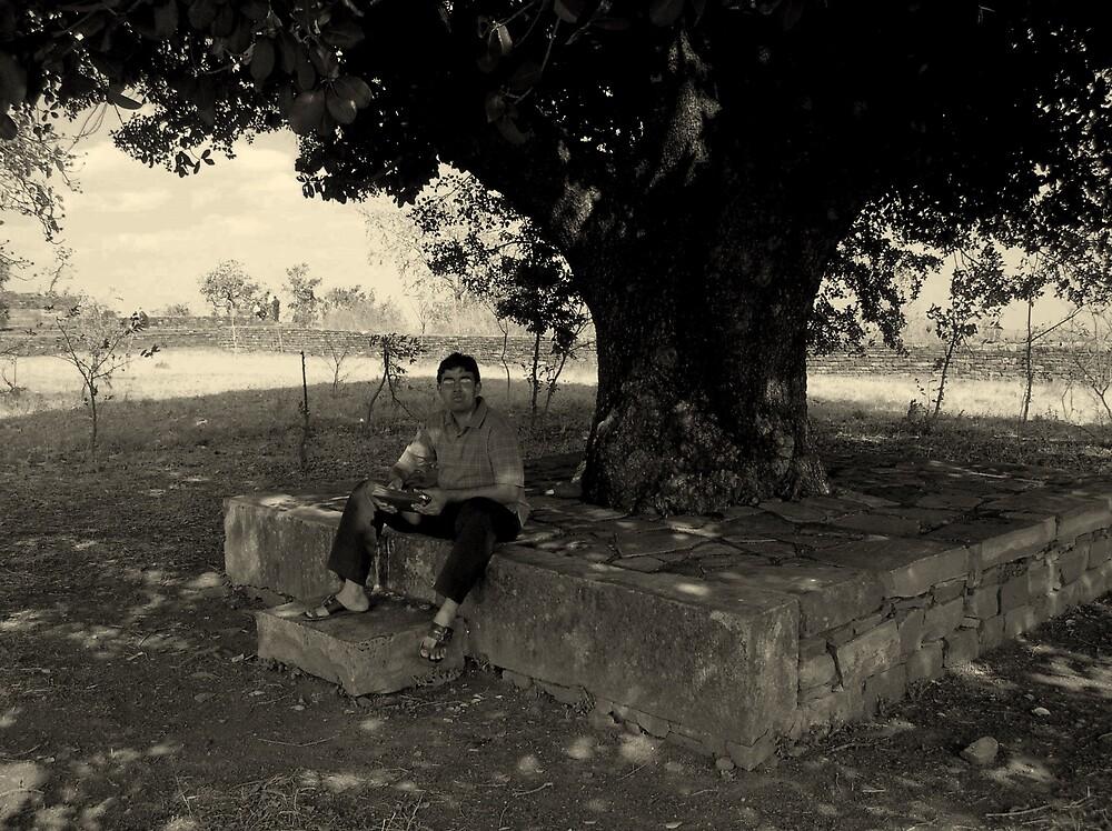 Under the tree of wisdom by nisheedhi