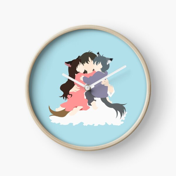 Wolf Children Minimalist Clock