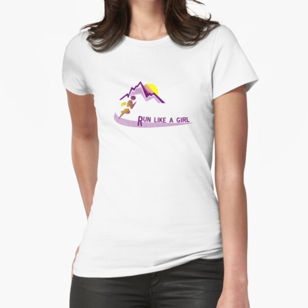 Run like a girl Fitted T-Shirt