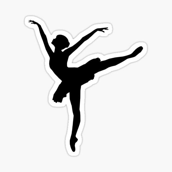 Simple Ballerina Silhouette Sticker