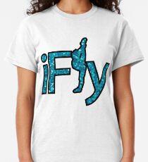 I FLY BLUE GLITTER Classic T-Shirt