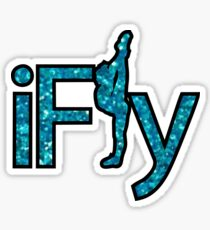 I FLY BLUE GLITTER Sticker