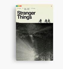 Stranger Things Polaroid Canvas Print
