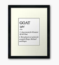 G.O.A.T Framed Print