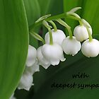 Lily of the Valley Sympathy  Card 2 by Kathleen Brant