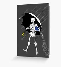 Morton Salt Skeleton Greeting Card
