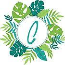 Monogramm-Buchstabe C | Personalisiert | Tropisches Design von PraiseQuotes