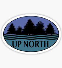UP NORTH Pines Water  Sticker