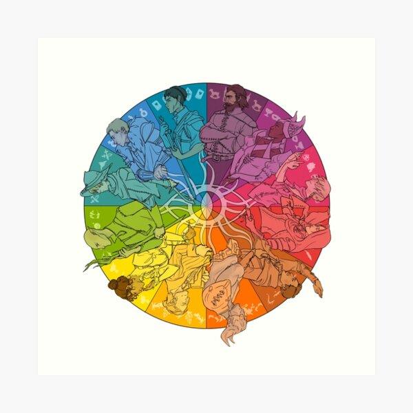 El círculo interno Lámina artística