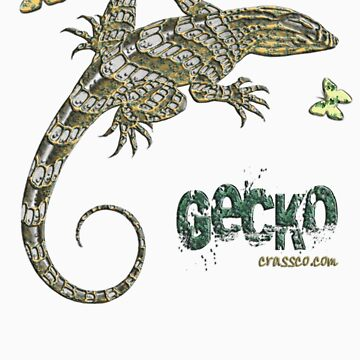 Gecko and butterfly von fuxart