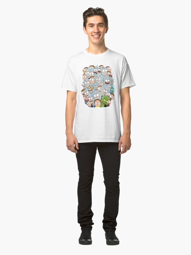 Alternate view of Rick and Morty - Outnumbered... Classic T-Shirt