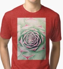 Succulent with Red Tips Tri-blend T-Shirt