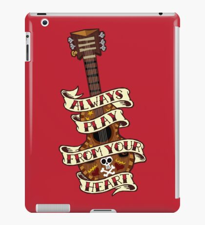 Always Play From your Heart iPad Case/Skin