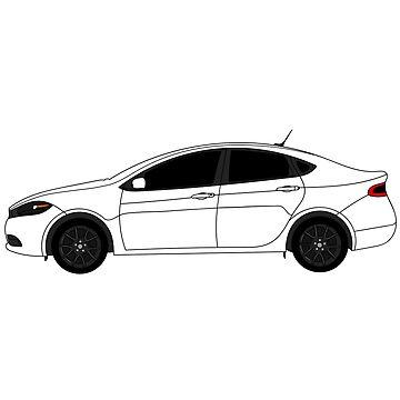 Dodge Dart Bright White Sticker by Jessimk