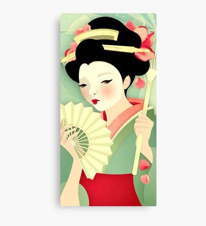 Geisha: Rose Canvas Print