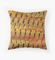 Pheasant Tail Feathers Throw Pillow