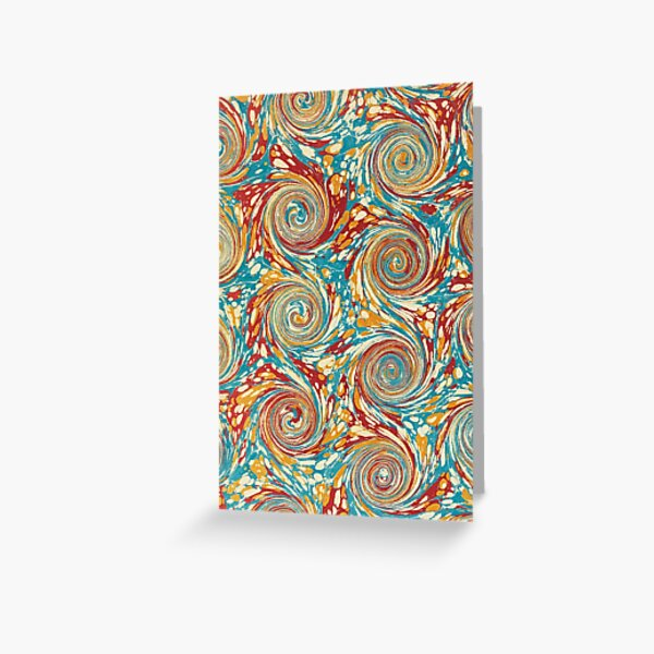 Book art: marbled endpapers – State Library Victoria Greeting Card