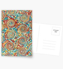 Book art: marbled endpapers – State Library Victoria Postcards
