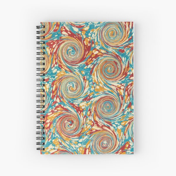 Book art: marbled endpapers – State Library Victoria Spiral Notebook