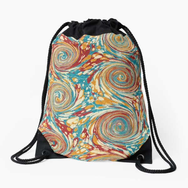 Book art: marbled endpapers – State Library Victoria Drawstring Bag