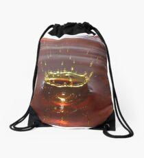 Das Spritzen - Wassertropfen-Fotografie-rotes goldenes Wasser-Spritzen Turnbeutel