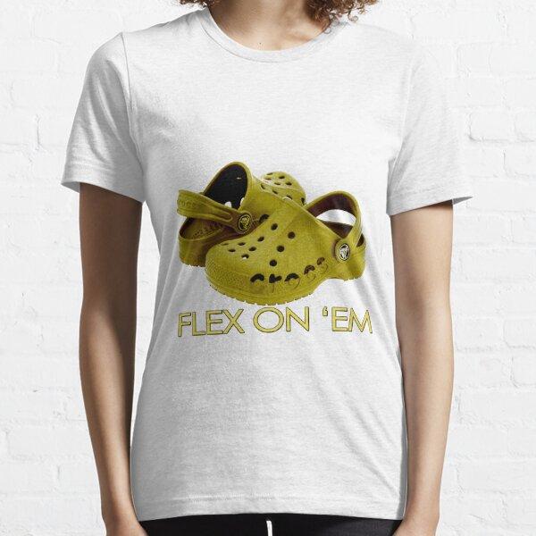 Gold Crocs to Flex 24/7 Essential T-Shirt