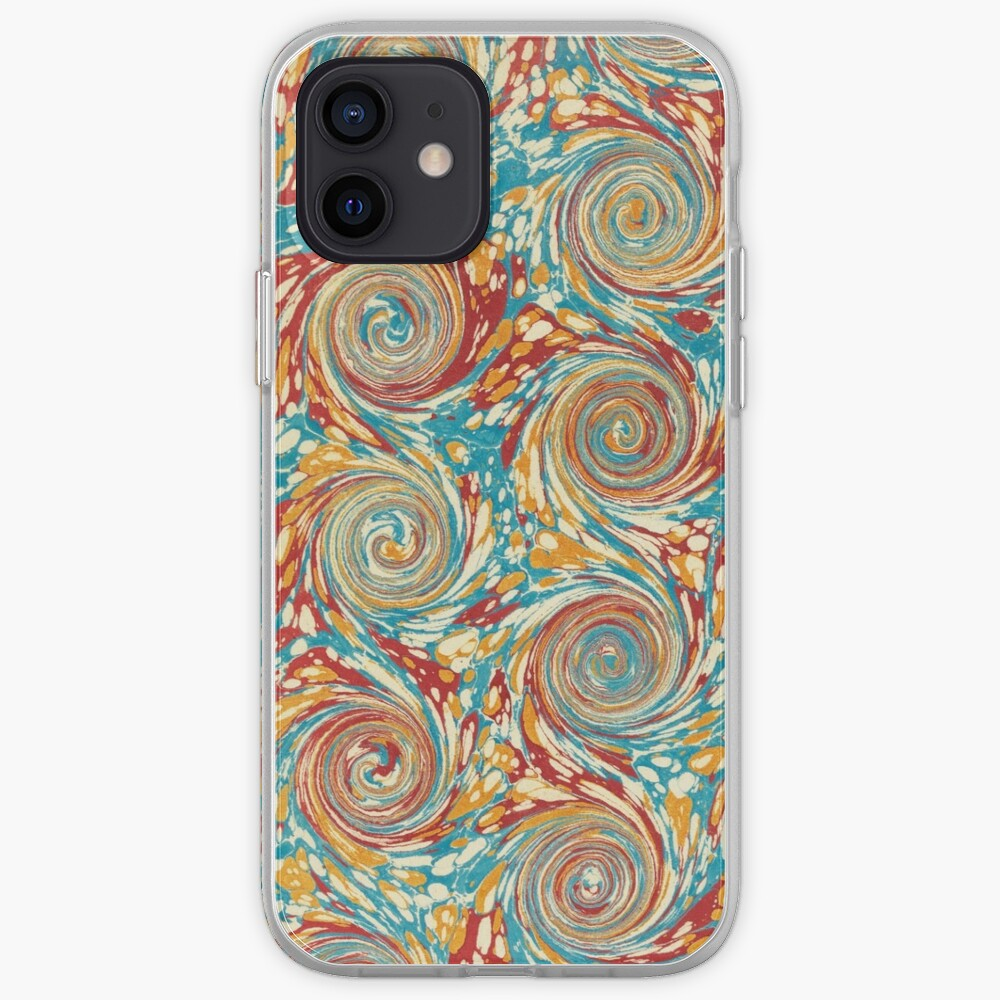 Book art: marbled endpapers – State Library Victoria iPhone Case & Cover