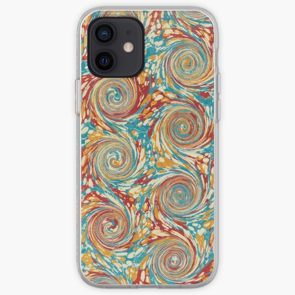 Book art: marbled endpapers – State Library Victoria iPhone Soft Case