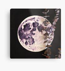 Eucalyptus Moon Metal Print