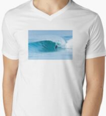 Bodyboarder surfing ocean wave Men's V-Neck T-Shirt