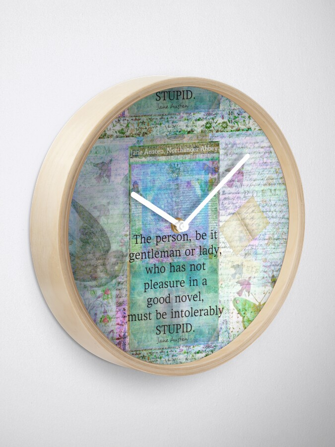 Alternate view of Jane Austen witty book quote  Clock
