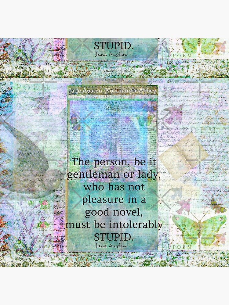 Jane Austen witty book quote  by goldenslipper