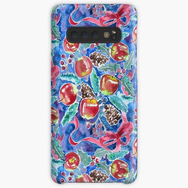 Watercolor Christmas Winter Apples Berries Fir Leaves Pinecones Samsung Galaxy Snap Case