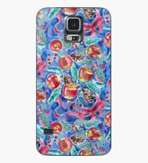 Watercolor Christmas Winter Apples Berries Fir Leaves Pinecones Case/Skin for Samsung Galaxy