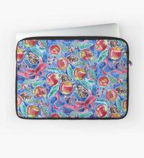 Watercolor Christmas Winter Apples Berries Fir Leaves Pinecones Laptop Sleeve