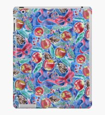 Watercolor Christmas Winter Apples Berries Fir Leaves Pinecones iPad Case/Skin