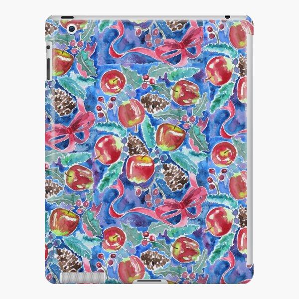 Watercolor Christmas Winter Apples Berries Fir Leaves Pinecones iPad Snap Case
